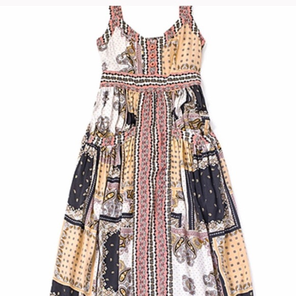 Matilda Jane Dresses & Skirts - Pink & White Perfectly Paisley Sleeveless Maxi